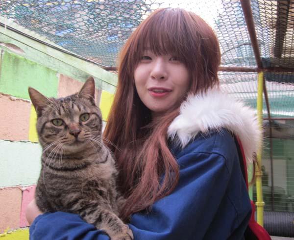 구혜인씨와 고양이.JPG